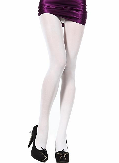 Pierre Cardin Cotton Kalın Külotlu Çorap Beyaz